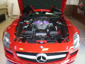 red mercedes car