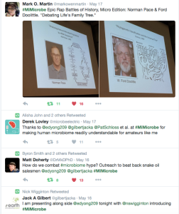 Portion of #MiMicrobe Twitter feed